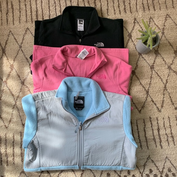(1) North Face Jacket (2) North Face Quarter Zips